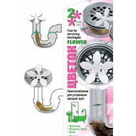 Приспособление для устранения засоров труб Цветок TD 0447