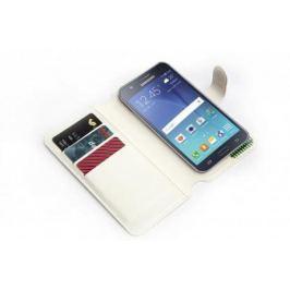 Чехол-книжка универсальный для телефона, белый 15,7*8 см SU 0019