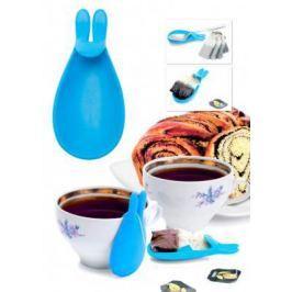 Держатель чайных пакетиков и ложки «КРОЛИК», голубой TK 0233