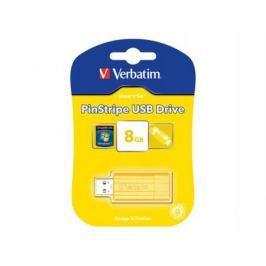 Флешка USB 8Gb Verbatim Store 'n' Go PinStripe 47395 USB2.0 желтый