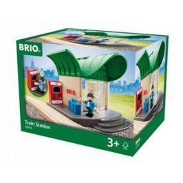 Набор Brio ж/д станция с озвуч.билет.автоматом,раздвиж.дверями,1 фиг.,22х17х15см,кор.