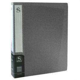 Папка с 80 файлами, форзац, ф.А4, серая SDB80/GR