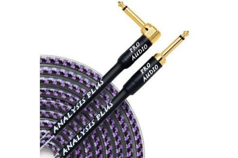 Кабель гитарный Analysis-Plus Pro Oval Studio G&H Plug Gold 9 m (прямой/угловой) Кабель гитарный