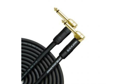 Кабель гитарный Analysis-Plus Black Oval G&H Plug Gold 3 m (угловой/угловой) Кабель гитарный