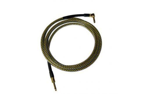 Кабель гитарный Analysis-Plus Yellow Oval G&H Plug Gold 6 m (прямой/угловой) Кабель гитарный