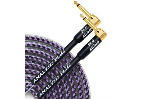 Кабель гитарный Analysis-Plus Pro Oval Studio G&H Plug Gold 3 m (угловой/угловой) Кабель гитарный