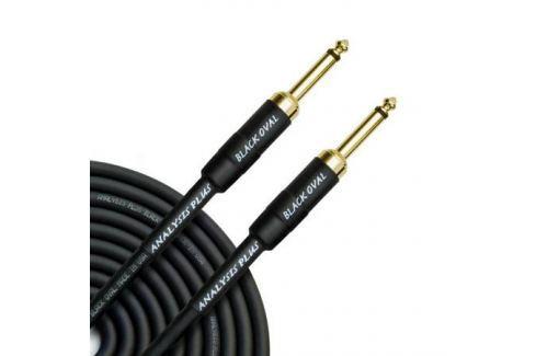 Кабель гитарный Analysis-Plus Black Oval G&H Plug Gold 5 m (прямой/прямой) Кабель гитарный