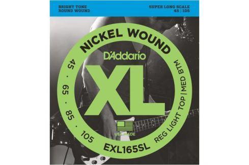 Гитарные струны D'Addario EXL165SL (для бас-гитары) Гитарные струны
