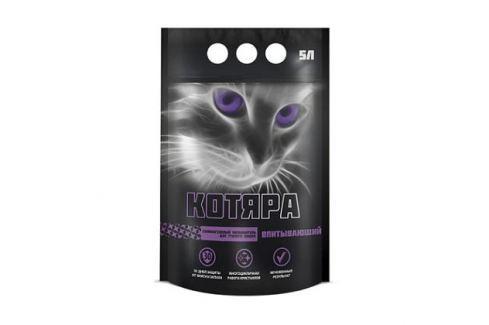 Силикагелевый наполнитель Котяра (полиэтиленовый пакет) для кошек 5л. Силикагелевый