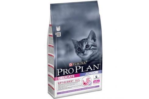 Сухой корм Pro Plan для котят с чувствительным пищеварением, индейка+рис, 10кг Сухой корм