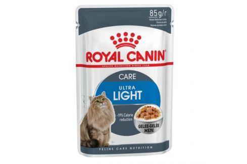 Влажный корм RC Ultra light для взрослых кошек от 1 года против лишнего веса, кусочки в желе, 85г Влажный корм