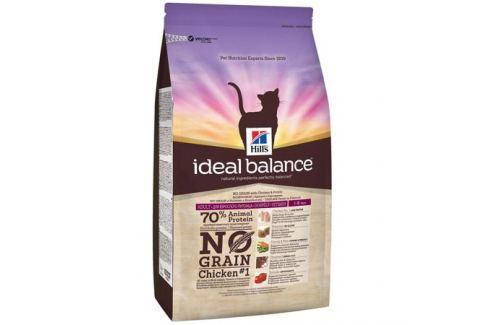 Сухой корм Hill's Ideal Balance No Grain натуральный беззерновой для кошек от 1 года до 6 лет с курицей и картофелем, 300г Сухой корм