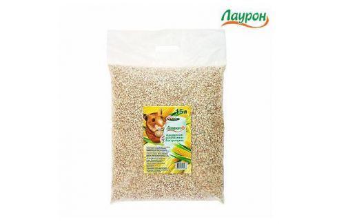 Наполнитель Лаурон кукурузный для грызунов 15л Древесный/ бумажный