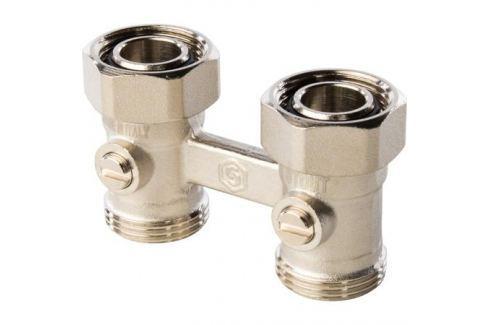 Stout Узел нижнего подключения радиатора для двухтрубной системы, прямой 3/4 вентили для радиаторов
