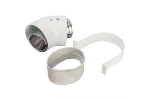 Stout Элемент дымохода отвод коаксиальный 45° Dn60/100, п/м уплотнения и хомут в комплекте (с логотипом) металлопластиковые