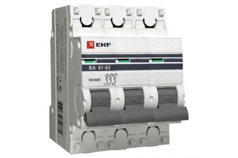 Выключатель EKF автомат.ВА 4763 25А 3П Автоматические выключатели
