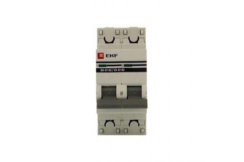 Выключатель EKF автомат.ВА 4763 10А 2П Автоматические выключатели