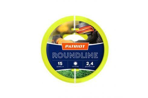 Леска PATRIOT Roundline 2,4мм*15м (круглая,желтая) 805201017 Для триммеров
