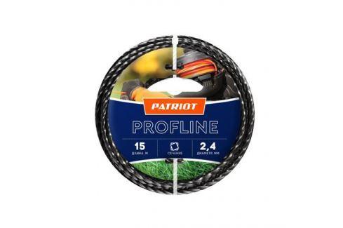 Леска PATRIOT Profline 2.4*15м скрученный квадрат, черный 240155 Для триммеров