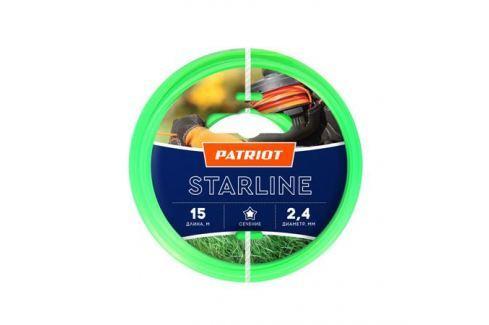 Леска PATRIOT STARLINE 2,4мм*15м (звезда,зеленая) 805201061 Для триммеров