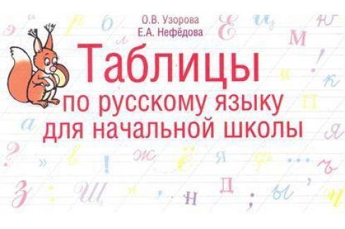 Узорова О., Нефедова Е. Таблицы по русскому языку для начальной школы Письмо. Русский язык
