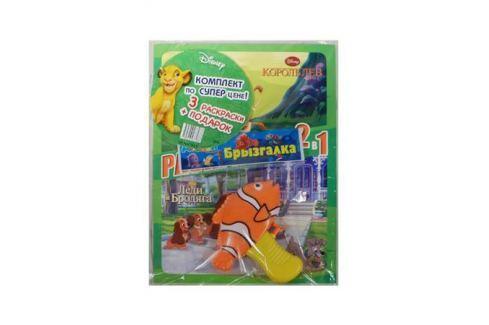 Классические герои Disney (комплект 3 книги + подарок - брызгалка) (в ассортименте) Раскраски