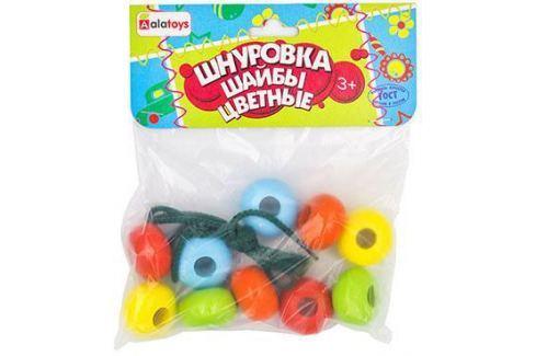 """Шнуровка Alatoys """"Шайбы цветные"""" ШН31 Шнуровки для малышей"""
