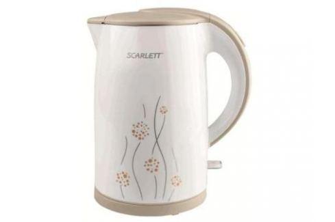 Чайник Scarlett SC-EK21S08 2150Вт 1.7л пластик белый с рисунком Техника для кухни