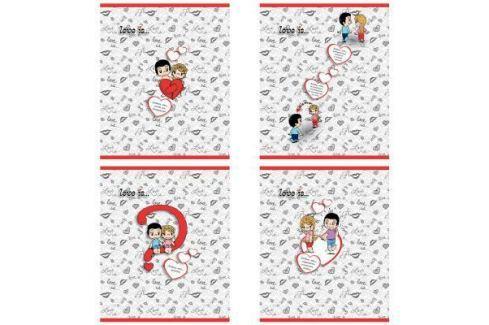 Тетрадь общая Action! Love is 96 листов клетка скрепка LI-AN 9618/5 в ассортименте Тетради