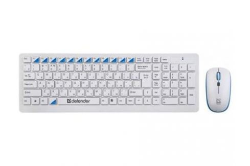 Клавиатура+ мышь Defender Skyline 895 Nano W(Белый) Кл:104, 1000/1500/2000dpi Комплект клавиатура + мышь