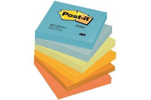 Бумага с липким слоем 3M 600 листов 76x76 мм многоцветный 654-MLBA Блоки для записей