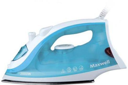 Утюг Maxwell MW-3046-В 2400Вт белый голубой Утюги