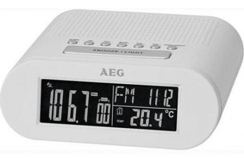 Часы с радиоприёмником AEG MRC 4145 F white белый Радиобудильники