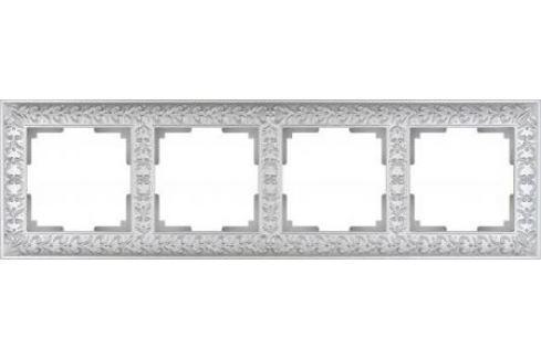 Рамка Antik на 4 поста жемчужный WL07-Frame-04 4690389063527 Рамки