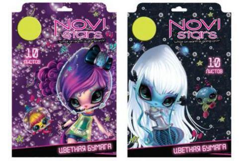 Цветная бумага Action! NOVI STARS A4 10 листов NS-CCP-10/10 в ассортименте, мелованная Цветная бумага и картон