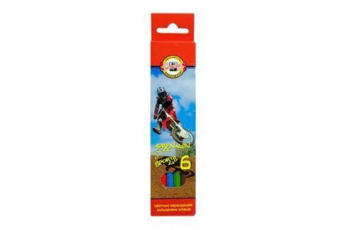 Набор цветных карандашей Koh-i-Noor Спорт 6 шт односторонние 3551/6 7 KS 3551/6 7 KS Карандаши