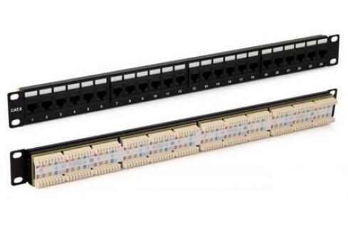 """Патч-панель Hyperline PP3-19-24-8P8C-C5E-110D 19"""" 1U 24 порта RJ-45 категория 5e Dual IDC ROHS черный Патч-панели"""