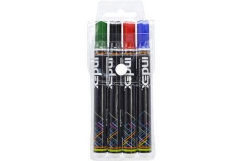Маркер для доски Index IMW200/4 5 мм 4 шт разноцветный Фломастеры