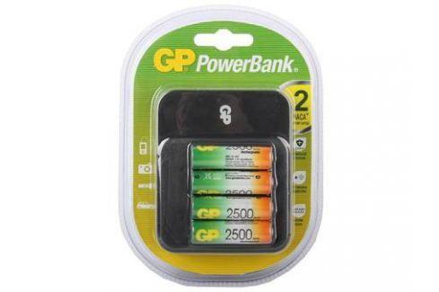 Зарядное устройство + аккумуляторы GP PB550GS250-2CR4 2500 mAh AA 4 шт Батарейки и аккумуляторы