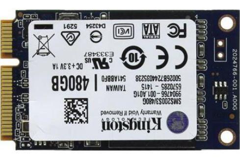 Твердотельный накопитель SSD mSATA 480GB Kingston SSDNow mS200 Read 530Mb/s Write 340Mb/s SMS200S3/480G SSD диски