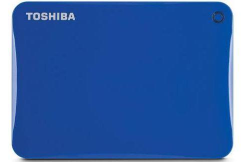 "Внешний жесткий диск 2.5"" USB3.0 3Tb Toshiba Canvio Connect II HDTC830EL3CA голубой Внешние жесткие диски"