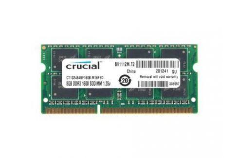 Оперативная память SO-DIMM DDR3 Crucial 8Gb (pc-12800) 1600MHz <Retail> (CT102464BF160B) Оперативная память для ноутбука