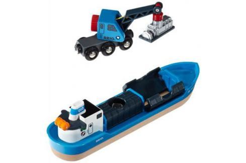 Игровой набор Brio с кораблем, краном-погрузчиком и грузом 33534 Игровые наборы для мальчиков