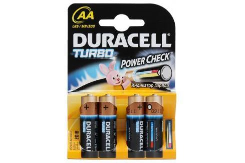 Батарейки Duracell Turbo MAX LR6-4BL AA 4 шт Батарейки и аккумуляторы