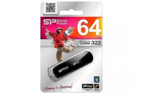 Внешний накопитель <USB2.0> 64Gb Silicon Power Luxmini 322 Black (SP064GBUF2322V1K) USB флешки