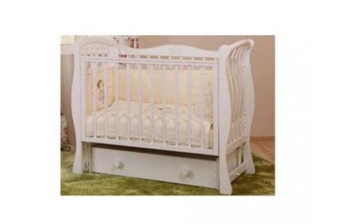 Кроватка с маятником Лель Ландыш БИ07.2 (белый) Кроватки с маятником