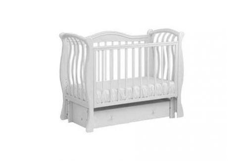 Кроватка с маятником Лель Маргаритка БИ08.2 (белый) Кроватки с маятником