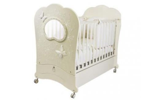 Кроватка с маятником Feretti FMS Oblo Majesty Brillante (avorio) Кроватки с маятником