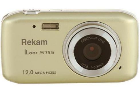 "Цифровая фотокамера Rekam iLook S755i 12 Mpx 1.8"" LCD шампань Компактные фотоаппараты"