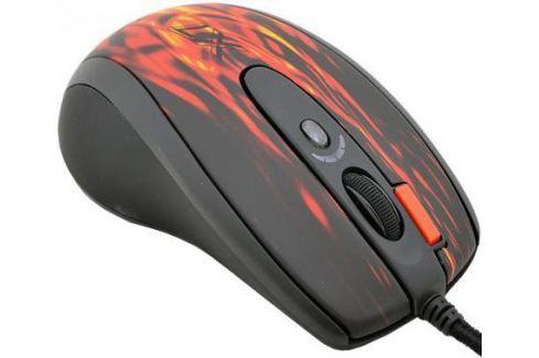 Мышь проводная A4TECH XL-750BK чёрный красный USB Игровые мыши